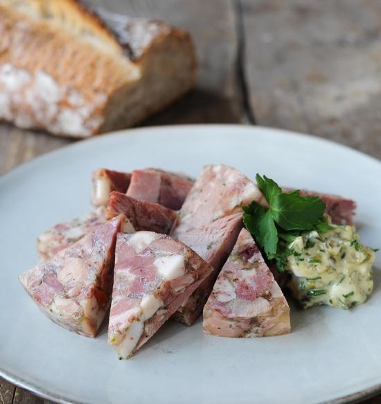 fromage de tête Porc Noir de Bigorre et sauce Gribiche